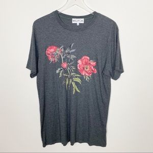 Wildfox floral grey Tee
